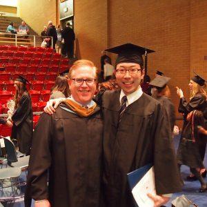 卒業式での写真