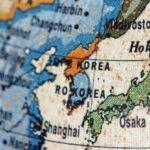 世界地図の中の日本の画像